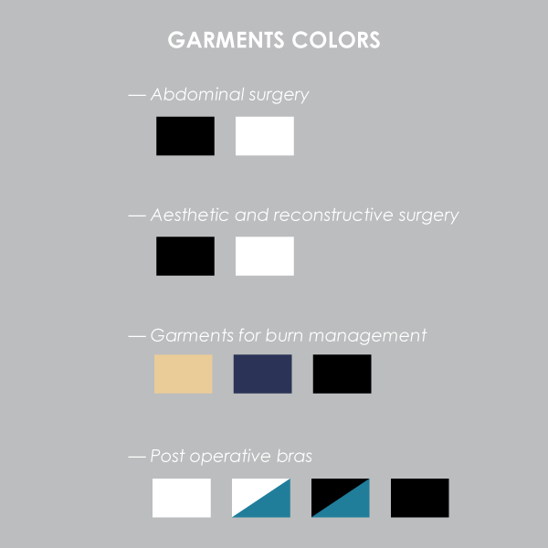 Garments colours list
